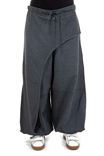 FANTAZIA - Pantalón zen capricho de trenzas haka, talla única, 100 % algodón, azul, zen natural, cómodo y original, creado en Francia, fabricación ética desde 2004.