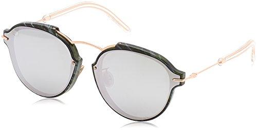 Christian Dior Unisex Cd_Reclat 60Mm Sunglasses, Green Marble, Gold, 60