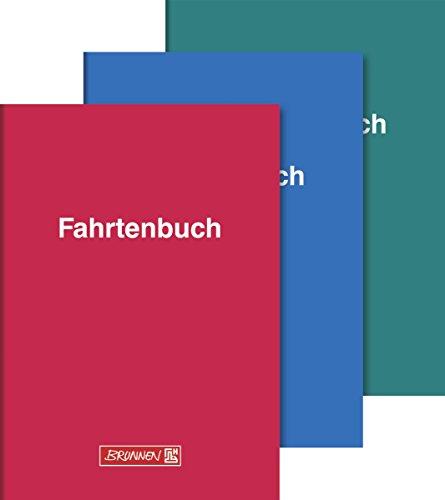 Brunnen 1010150 Fahrtenbuch (A5, Kartoneinband, 16 Blatt, 3 Farben) sortiert