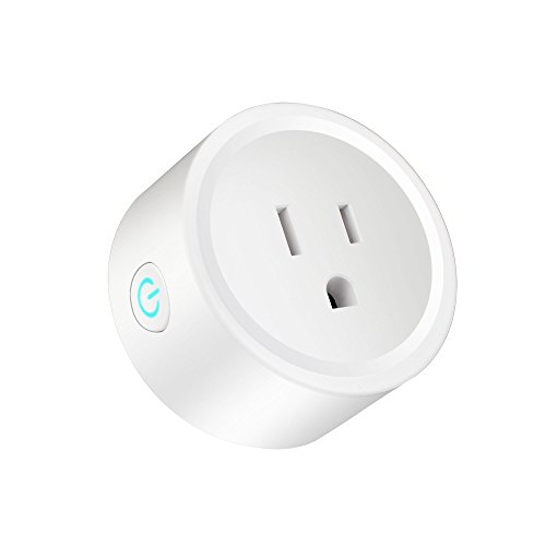 Smart Plug Works with Wifi Outlet Works With Alexa, Google Home & IFTTT, Mini Smart Outlet Wifi plug with Timer Function, Remote Control Your Home Appliances from Anywhere, FCC CE,ETL Certified (1)