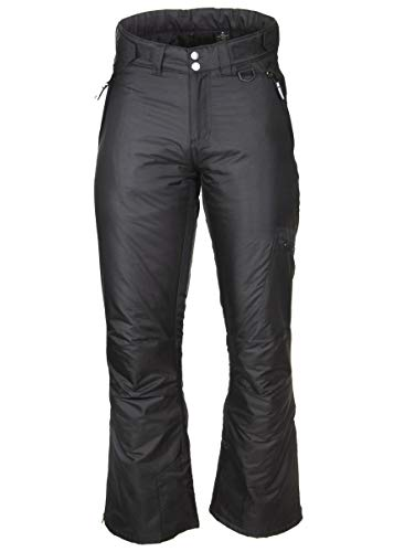Arctic Quest Womens Water Resistant Insulated Ski & Snow Pants with Pockets, Black, M