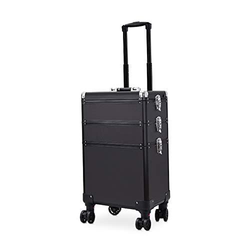Kosmetikkoffer, großer Trolley-Spiegel mit leichtem, tragbarem Werkzeugkoffer aus...