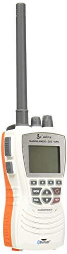Cobra MR HH600WFLTBTGPS Handheld Floating VHF Radio 6 Watt, GPS, Bluetooth, Submersible, Noise Cancelling Mic, Backlit LCD Display, MemoryScan, White
