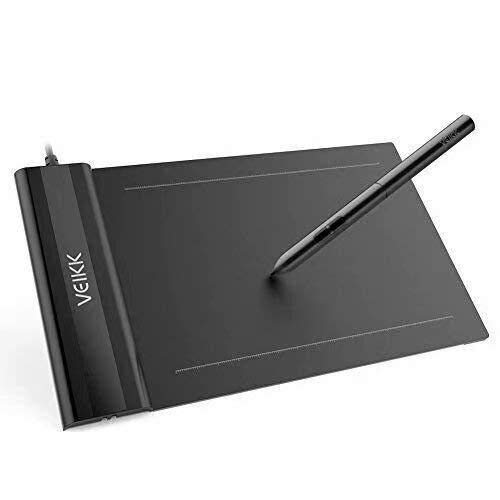 VEIKK S640 V2 Graphics Drawing Tablet 6x4 inch OSU Pen Tablet with Battery-Free...