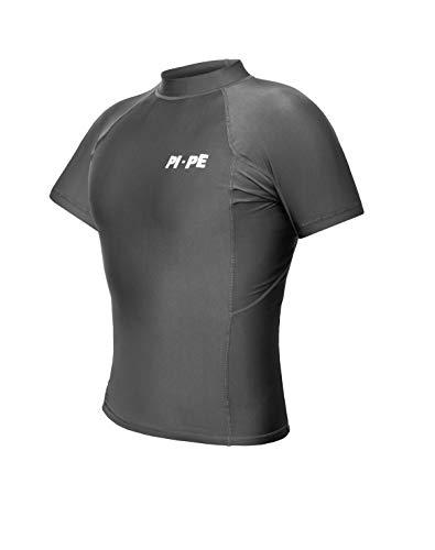 PI-PE Rash Guard Herren S/S Short Sleeve Grey L