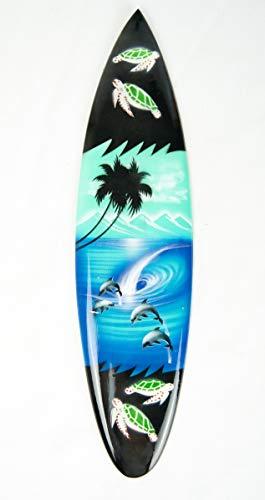 Asia Design Miniatur Surfboard Dekosurfboard de madera Wellenreiten incluida Holzständer decoración Nr 13, 30 cm