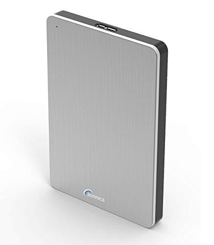 Sonnics 500GB Silber Externe tragbare Festplatte USB 3.0 super schnelle Übertragungsgeschwindigkeit für den Einsatz mit Windows PC, Apple Mac, XBOX ONE und PS4 Fat32
