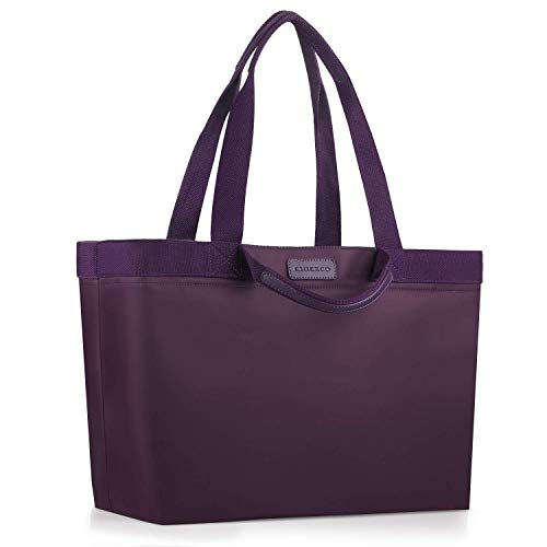 CHICECO Bolsa extragrande para mujer, para gimnasio, trabajo, playa, nailon impermeable (morado (2 bolsillos deslizantes), extragrande)
