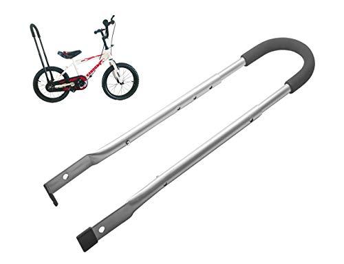 MOSHAY Kinderfahrrad Schiebe und Fahrrad Fahren Lernhilfe universale Schiebestange überall passend(Gray)