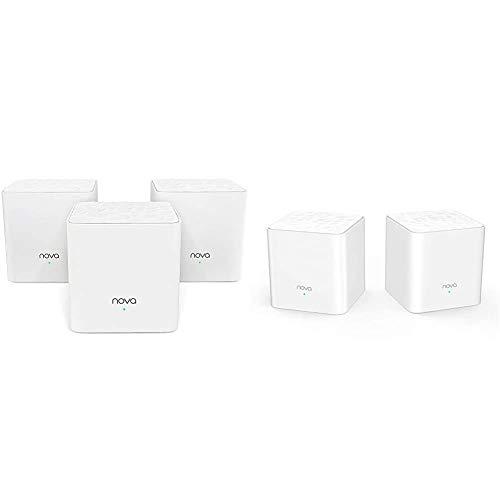 Tenda Nova MW3 Mesh Router Sistema WiFi de Red en Malla + Nova Mw3 Mesh - AC1200 Router Sistema WiFi De Red En Malla