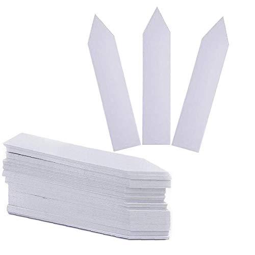 Nsiwem 100 Pezzi Etichette per Piante da Giardino Seme Etichette Piante Plastica Tag Marker Etichette per Piante Impermeabili marcatori di Piante Bianche Etichette per Giardino