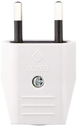 Silver Electronics 9257 Clavija Macho, 250 V, Blanco