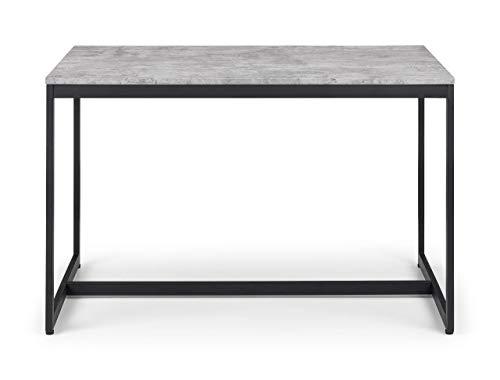 Julian Bowen Staten Dining Table, Concrete & Black