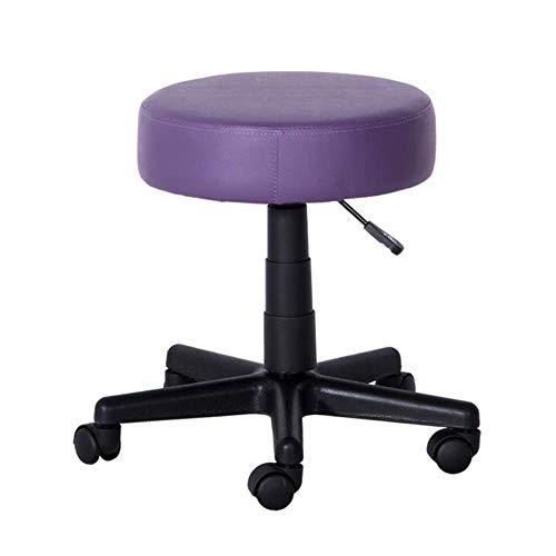 QLIGAH Sgabello da Massaggio del Salone Girevole - Sgabello Rotondo dell'altezza del Gas Idraulico con Seduta Imbottita, Altezza Regolabile per Parrucchieri