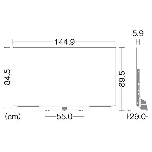 シャープ65V型有機ELテレビ4Kチューナー内蔵AndroidTVMedalistS1搭載2020年モデル4T-C65CQ1