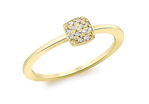 Carissima Gold Anillo de mujer con oro amarillo 9 K (375) y diamante - Tamaño 13.5
