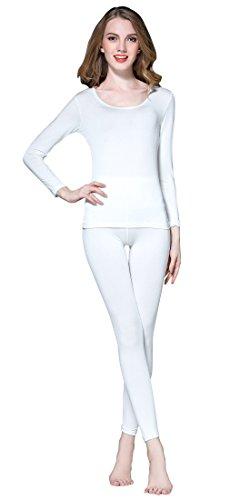 Vinconie Conjuntos Térmicos Mujer Camiseta Manga Larga Mujer Pantalon Termico