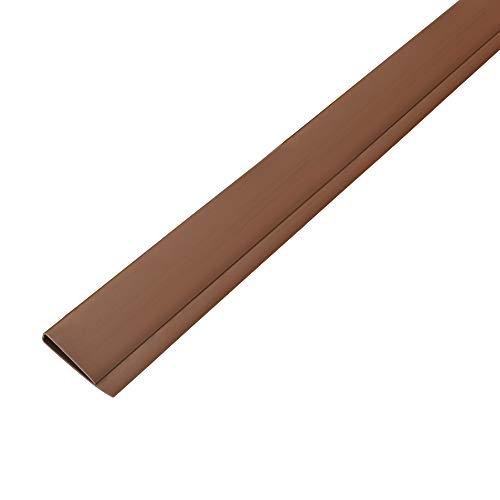 Sol Royal PVC Sichtschutz Abdeckprofil SolVision P14 - PVC Abdeckung für Sichtschutzmatte Balkon & Terrasse 100cm Braun