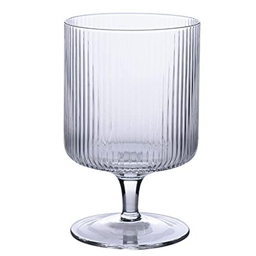 Copas para helado 10 Onzas Vasos para Postres Cristal Diseño De Rayas Adecuado para Helados Budines Frutas Etc Buena Resistencia Al Calor - Aptas para El Lavavajillas (Color : Transparent Colo