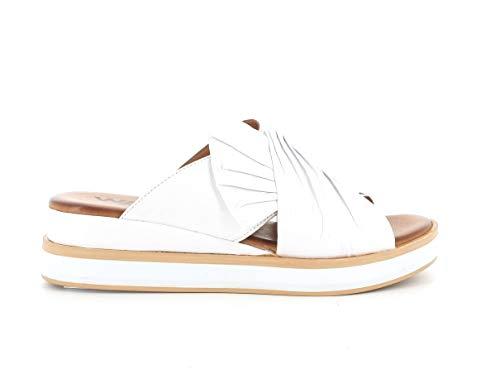 Melluso Sandalo Donna k55119 in Pelle Bianca con Sottopiede in Memory Foam 37