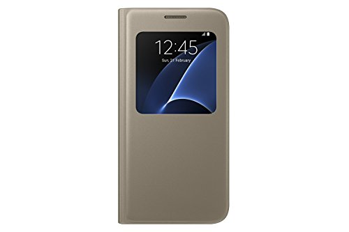 Samsung Galaxy S7 Case S-View Flip Cover - Gold (NOT for S7 EDGE)
