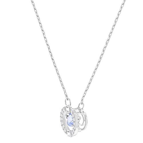Swarovski Women's Sparkling Dance Round Necklace, Stunning Necklace with Crystals, Rhodium Plated, from the Swarovski Sparkling Dance Collection