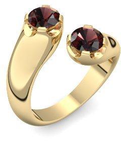 Gold Ring Granat 585 + inkl. Luxusetui + Granat Ring Gold Granatring Gold (Gelbgold 585) - Darling Amoonic Schmuck Größe 58 (18.5) AM39 GG585GRFAGRFA58