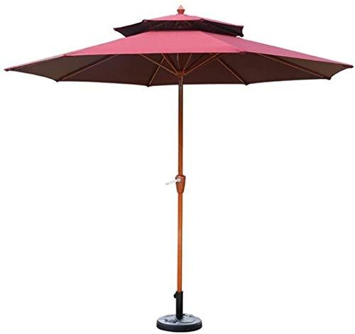 Ruinaier Houswares Sun Parasol Umbrella Garden Parasoles al aire libre Patio Market Market Mercado Paraguas, Sombrilla de sol portátil Sombra para la piscina, cubierta, patio trasero, Piscina, Playa,
