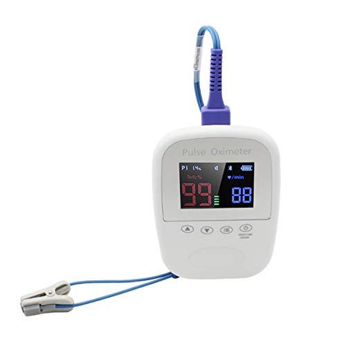 QNMM Oxímetro Clip de Oreja Veterinario de Mano, Sonda de Lengua de Saturación de Oxígeno En Sangre Y Frecuencia de Pulso Mascotas con Bluetooth para Uso En Hospitales Familiares Y de Mascotas, Etc.