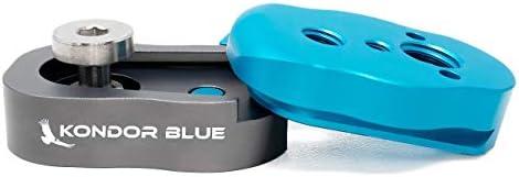 Kondor Blue Mini Quick Release Plate for Camera Tripod/Gimbal/Video Monitor/Magic Arm Flash Bracket/Stabilizer, Camera...