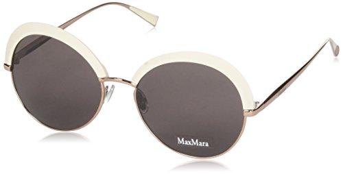 Max Mara MM ILDE II K2 25A 57 Occhiali da Sole, Bianco (Ivory Gdcoppr/Mauve), Donna