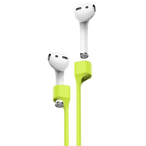 AirpPods Strap green,cinghia cavo elastico magnetico anti smarrimento auricolari Compatibili con Apple AirPods Pro/AirPods cuffie wireless bluetooth comodo fino leggero chiusura a clip come collana