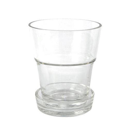 Urban&Rural 'Macetero Con Plato Glass' - Transparent glass orchid pot with saucer