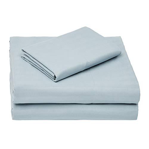 Amazon Basics–Deluxe de microfibra Juego de sábanas, spa azul, cama individual