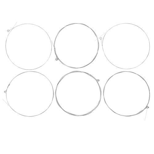 Cuerdas de guitarra, 5 juegos de cuerdas de guitarra 009-042 Cuerda de bobinado chapada en níquel con núcleo de acero al carbono hexagonal para guitarra eléctrica