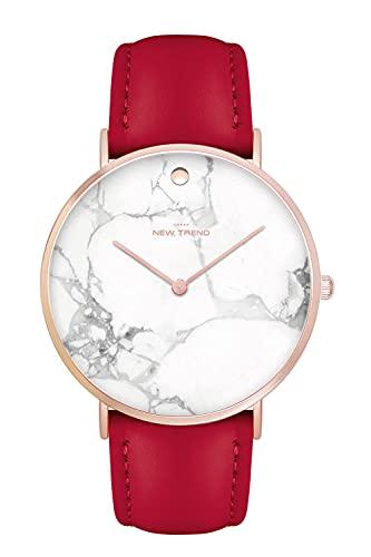 New Trend - Love for Accessories Damen Uhr analog Quarzwerk mit Kunst-Leder-Armband WD-CYC8-MBQF