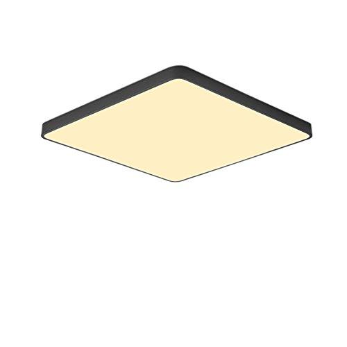 Ultra-dünne 5cm Deckenleuchte Moderne Einfachheit Square LED Deckenlampe für Wohnzimmer Schlafzimmer Restaurant Arbeitszimmer Gang Balkonbeleuchtung ( Color : Black Warm light , Größe : 50*50CM 36W )