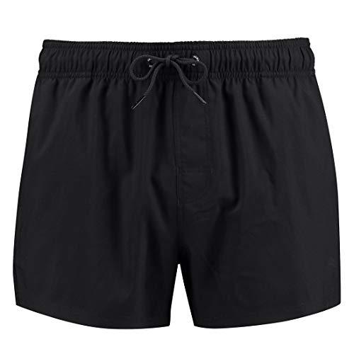 PUMA Herren Badehose Badeshorts Logo Short Length Swim Shorts, Farbe:Black, Bekleidungsgröße:L