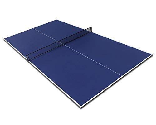 Hyner 9ft Folding Full Size Table Tennis Table top with Net Blue