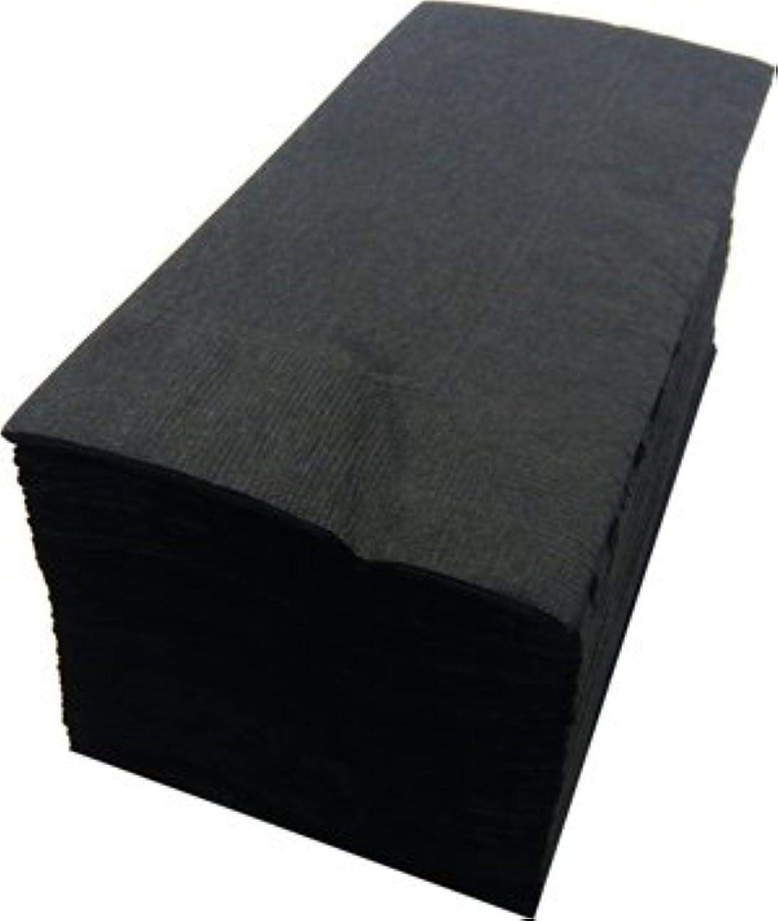気晴らし揮発性デッドカラー8折2プライペーパーナプキン「ブラック」(2000枚)