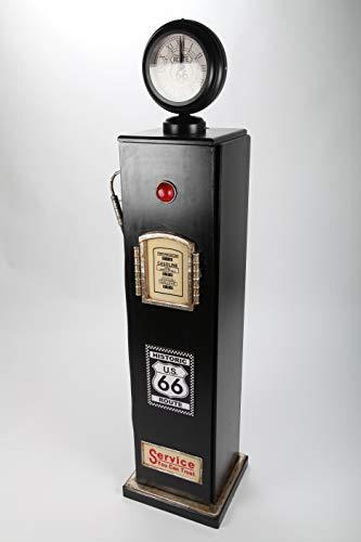 point home Design-Schrank Zapfsäule mit Uhr + Licht, Retro, schwarz, 150cm
