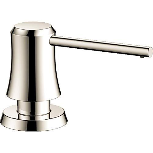 hansgrohe Joleena Bad und Küche Seifenspender 7,6 cm, Übergang Seifenspender in Nickel poliert, 04796830