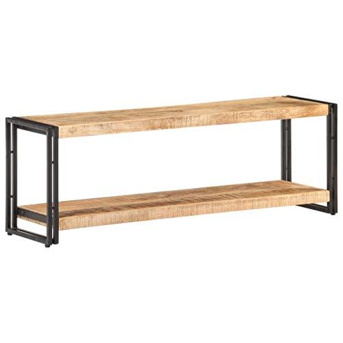 vidaXL Raues - Mobile TV in legno di mango, stile industriale, per TV, mobiletto per TV, 120 x 30 x 40 cm