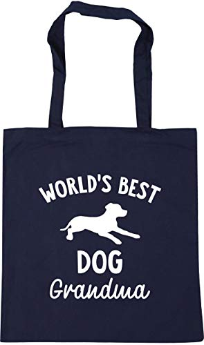 Hippowarehouse World's best dog grandma Tote Shopping Gym Beach Bag 42cm...