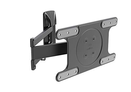 Meliconi 480871 - Supporto TV da parete OLED SDR con Doppio Braccio per TV di ultima generazione da 40   a 82  , Portata max 25 kg, Foratura VESA 200 - 300 - 400x200, Easy Tilt Pro, Nero