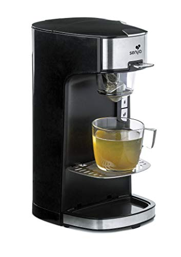 Senya SYBF-CM013N Machine Tea Time, théière électrique Compatible thé en Vrac ou en Sachet, avec infuseur Amovible, Noire 1400 W, 0.55 liters