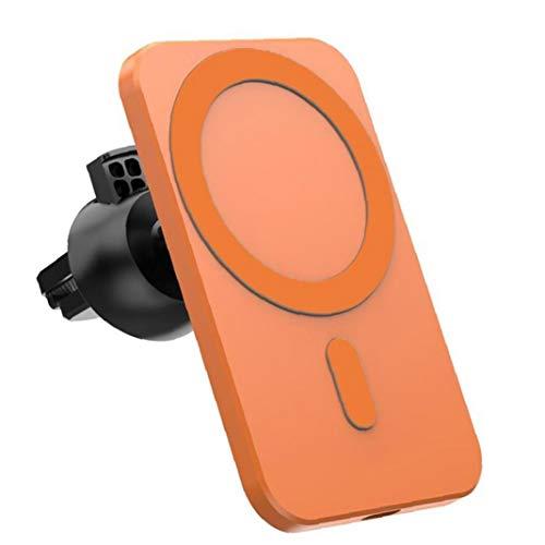 YepYes Cargador inalámbrico de Montaje magnético Naranja reemplazo del Soporte inalámbrico de Coche para iPhone 12 Pro Mini MAX MagSafe