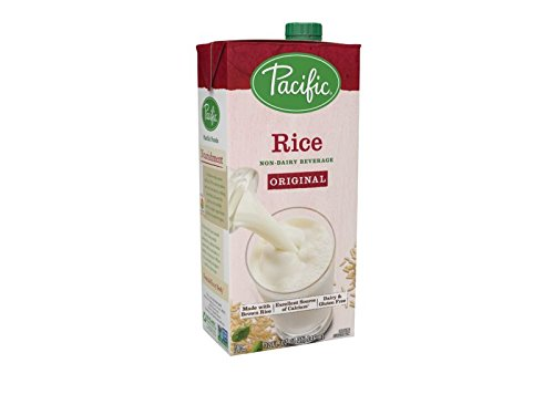 Pacific Foods Rice Non-Dairy Beverage, Plain, 32-Ounce Containers (Pack of 12)