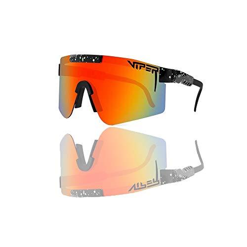 Solglasögon UV-400 utomhussport solglasögon Pit UV ögonskydd polariserade glasögon för män kvinnor (orange)