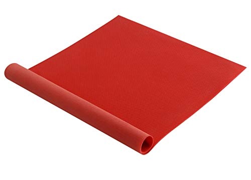 Shoe Sole Repair Rubber Soling Sheet, Non-Slip Shoe Pads Replacement for Bottom of Shoes (Red)